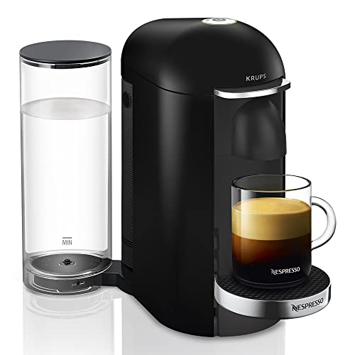 Nespresso Vertuo - Machine à café à capsules pour espresso ou café long - de 40 ml à 410 ml - Noir - Krups YY2779FD