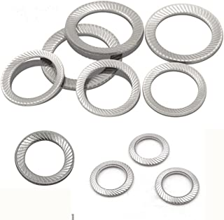 Wedge Locking Washer DIN9250 Stainless Steel 304 Safe Butterfly Lock washerf Specifications M3/M4/M5/M6/M10/M12 Tooth Decay Non-Slip Wedge Locking Washer Gasket (M10)