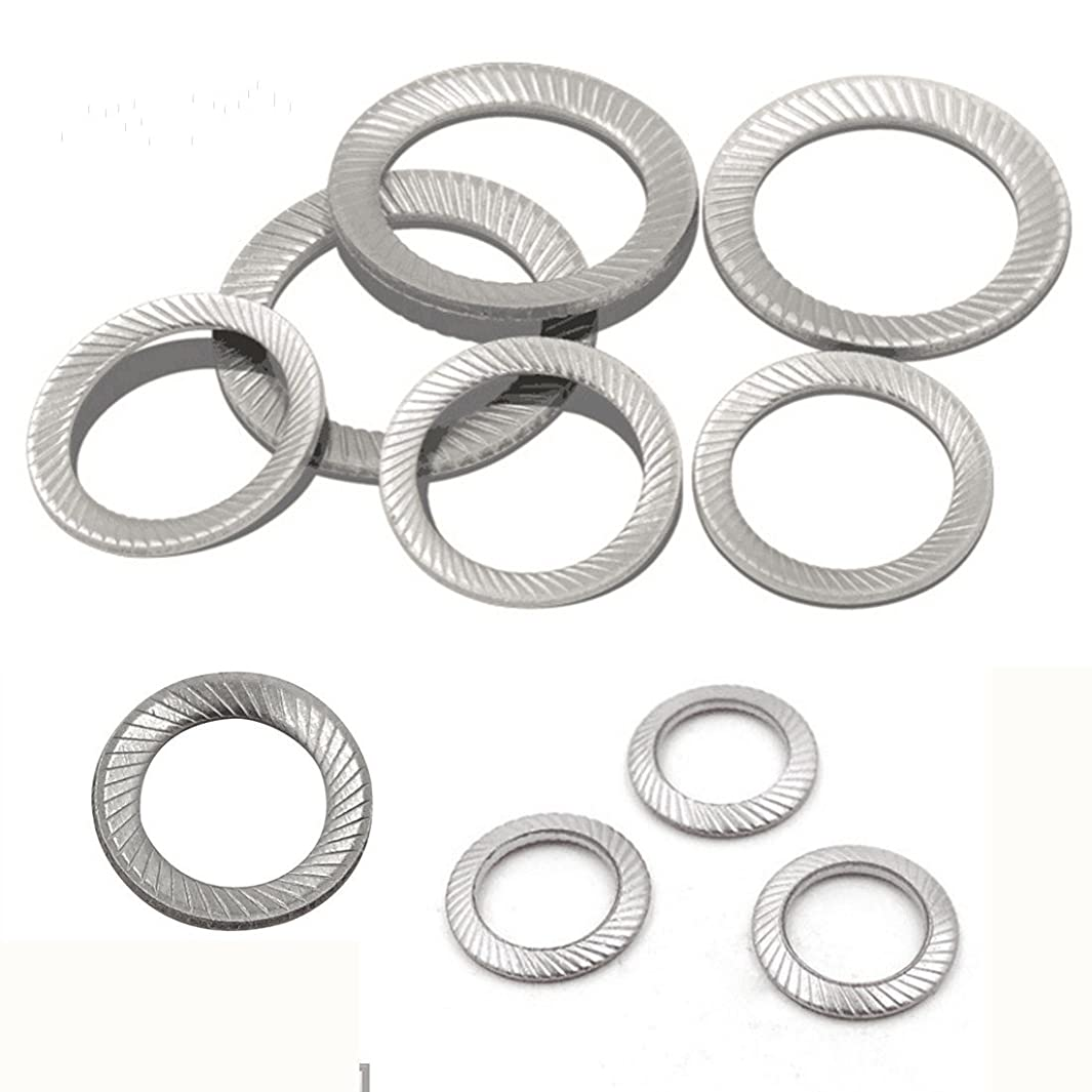 Wedge Locking Washer DIN9250 Stainless Steel 304 Safe Butterfly Lock washerf Specifications M3/M4/M5/M6/M10/M12 Tooth Decay Non-Slip Wedge Locking Washer Gasket (M12)