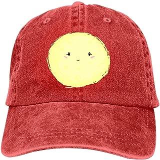 LeoCap Full Moon Baseball Cap Unisex Washed Cotton Denim Hat Adjustable Caps Cowboy Hats
