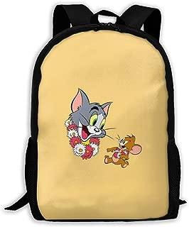 MPJTJGWZ Casual Backpack Tom and Jerry Print Zipper School Bag Travel Daypack Backpack