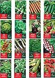 Vittleitaly Landen Set 16 Pacchetti di Semi Assortiti per Verdure N.03