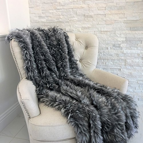 Why Choose Plutus Brands Plutus Wolf Faux Fur Luxury Throw, 60″ W x 72″ L