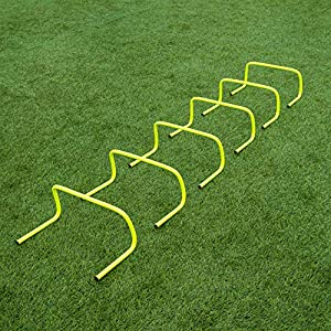 """FORZA 6""""/9""""/12"""" SPEED HURDLES - New & Improved Design for Agility Training [Set of 6] [Net World Sports]"""