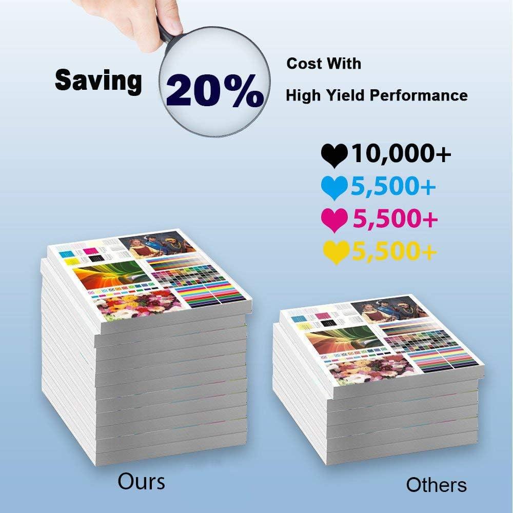6-Pack (2C+2Y+2M) Compatible High Yield 841281 841283 841282 Laser Printer Toner Cartridge Used for Ricoh LD520c LD525c C9020 C9025 Printer