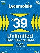 $39 Unlimited International Plan