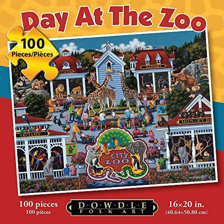 Jigsaw PuzzleDay At the Zoo 100 Piece Puzzle By Dowdle Folk Art by Dowdle Folk Art