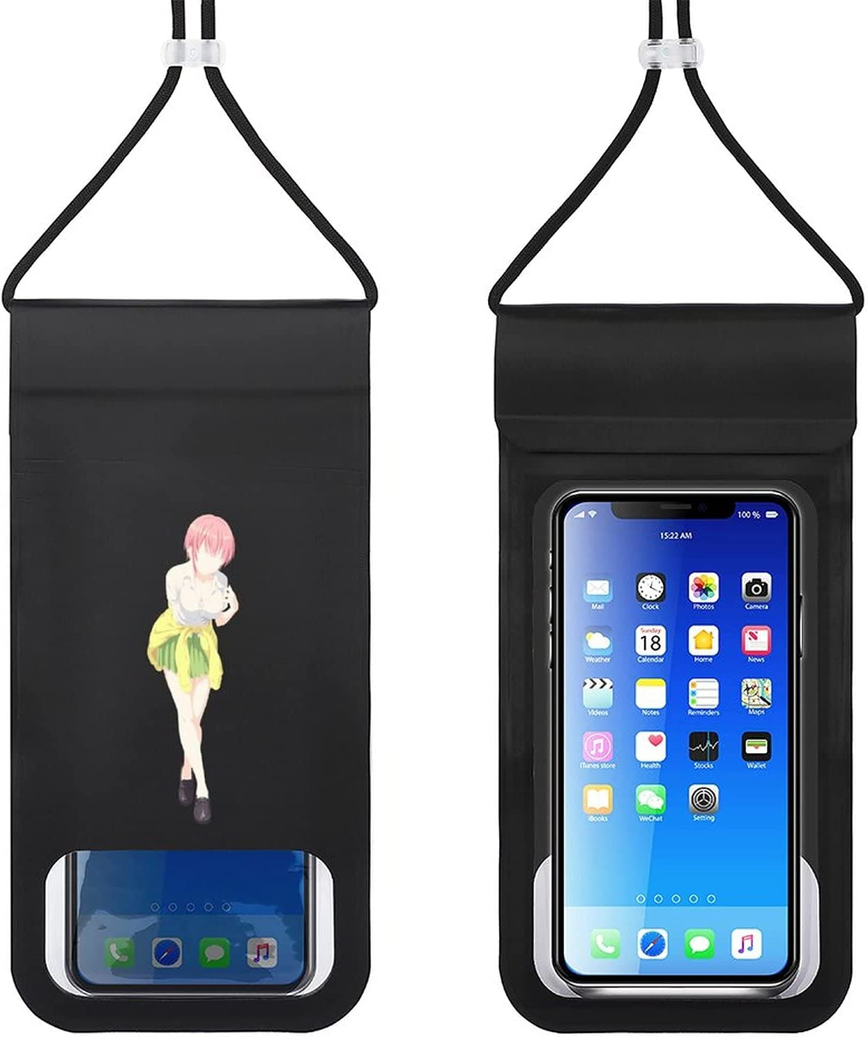 The Quintessential Quintuplets Waterproof Phone Pouch Cellphone Dry Bag Suitable for Smartphones Up to 6.5 Inches Beach, Fishing, Swimming, Boating