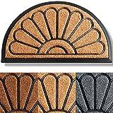 Extra Durable Spring Door Mat - Welcome Mats for Front Door - Door Mats for Home Entrance Outdoor - Half-Round Welcome Mat - 30'x18' Doormat - Yellow Entryway Rug