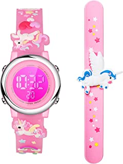 2 Pieces Unicorn Kids Watch and Silicone Wristband Cute...