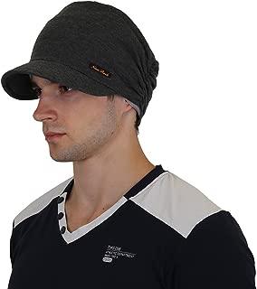 Add-gear™™™™ Lychee Cotton Slouchy Snood Beanies Cap with Visor/Summer Cap/Winter Cap/Autumn Cap