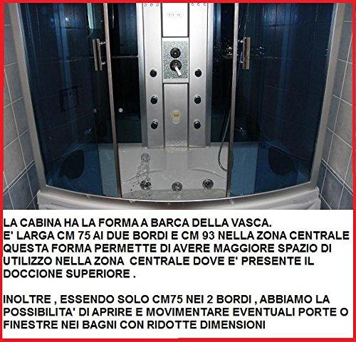 TRADE Cabina GD-Mampara de ducha con baño de hidromasaje para 2 ...