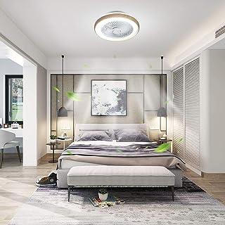 XIYUN 天井ファン LED木目調シーリングファンライト シーリングファン リモコン付き サイレント工事不要 簡単取付 調節可能な風速、調光調色 6畳~8畳 子供部屋 居間 寝室 おしゃれ 和室 北欧 リビング 照明 シーリングファンライト 36W