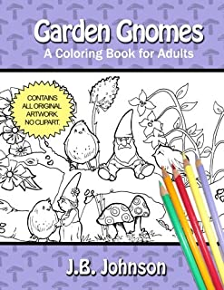 Garden Gnomes Coloring Adults Chroma