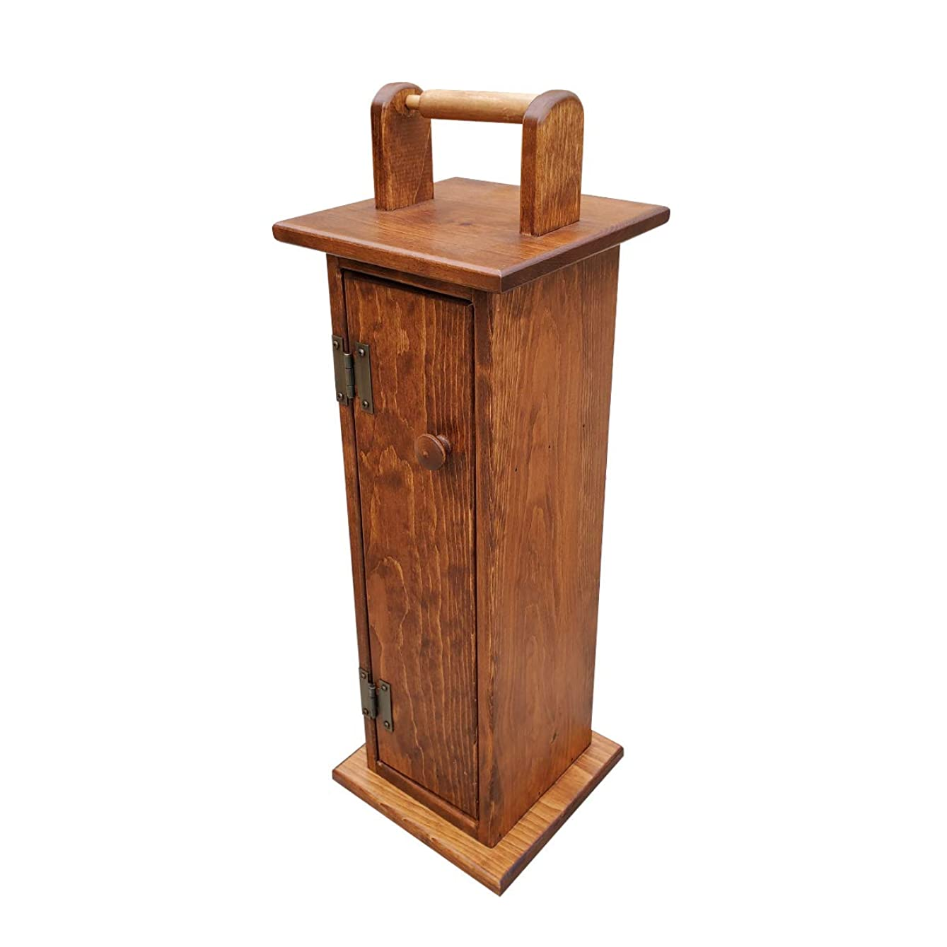 ハブ事業内容そっとPeaceful Classics 木製トイレットペーパーホルダーキャビネット | アーミッシュ手作りソリッドパイン | バスルーム収納トイレティッシュシェルフ | 立ったトイレットペーパーホルダー レッド