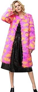 Women's Long Winter Coat Warm Long Parka Faux Fur Jacket Elegant Cardigan Long Sleeve Casual Outerwear Jacket