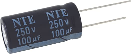 NTE Electronics VHT3300M10 Series VHT Aluminum Electrolytic Capacitor, Radial Lead, 105 Degree Max Temp, 3300 µF Capacitance, 20% Tolerance, 10V
