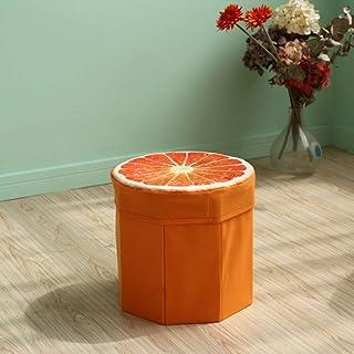 儲物凳座 - 儲物凳水果,小儲物椅座椅臥室套箱兒童玩具動物奧斯曼桌布圓形
