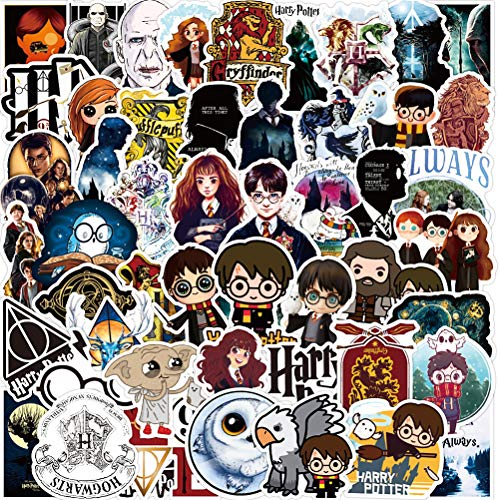 Harry Potter Sticker Aufkleber - YUESEN 100 Pcs Vinyls Stickers Wasserdicht Graffiti Reise Aufkleber Decals Pack für Auto Motorrad Laptop Skateboard Fahrrad Koffer Notebook Gitarre Gepäck