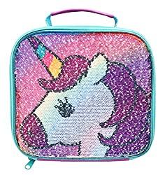 Magical second design when you brush the sequins up Large insulated compartment Carry handle for easy transporting