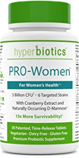 Hyperbiotics PRO-Women Probiotics - 30 Daily Time-Release Tablets with Cranberry Extract and Naturally Occu...
