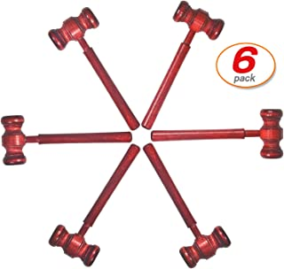 6 Pack Judges Gavel Costume Accessory Justice Costume Accessories Props for Courtroom Perfect for Judge Lawyer Auction (Gavel Judge Gavel)