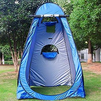 Tente de Douche, Tente de Douche Camping 150 * 150 * 190CM Ente de Douche Pop Up avec 2 Fenêtres Tente à Langer sans Douche pour Camping Randonnée Randonnée Plage en Plein Air