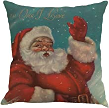 Armfer-household supply Christmas Pillow Covers 18X18 Gray Humorous Santa Claus Graphic Throw Pillow Case Square Waist Lumbar Cushion Winter Holiday Festival Decor Pillowcase for Home Office Car