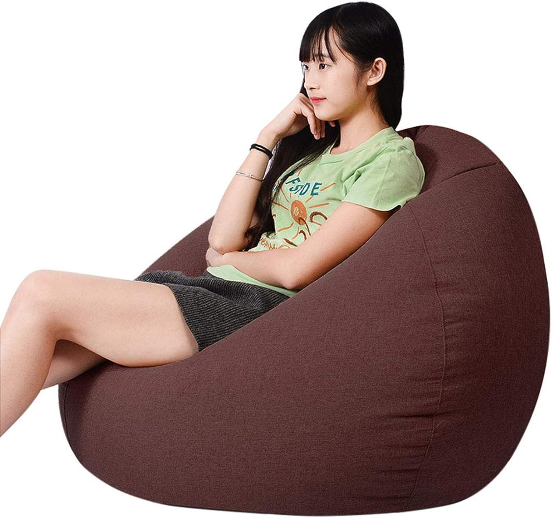 Dingtuo Bean Bag Soft Memory Foam Bean Bag Chair Removable Linen Cover Bean Bag Sofa Coffee