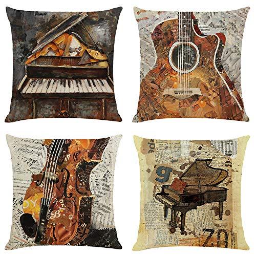 YQTYGB Juego de 4 Instrumento Musical ArtíStico Funda de Co
