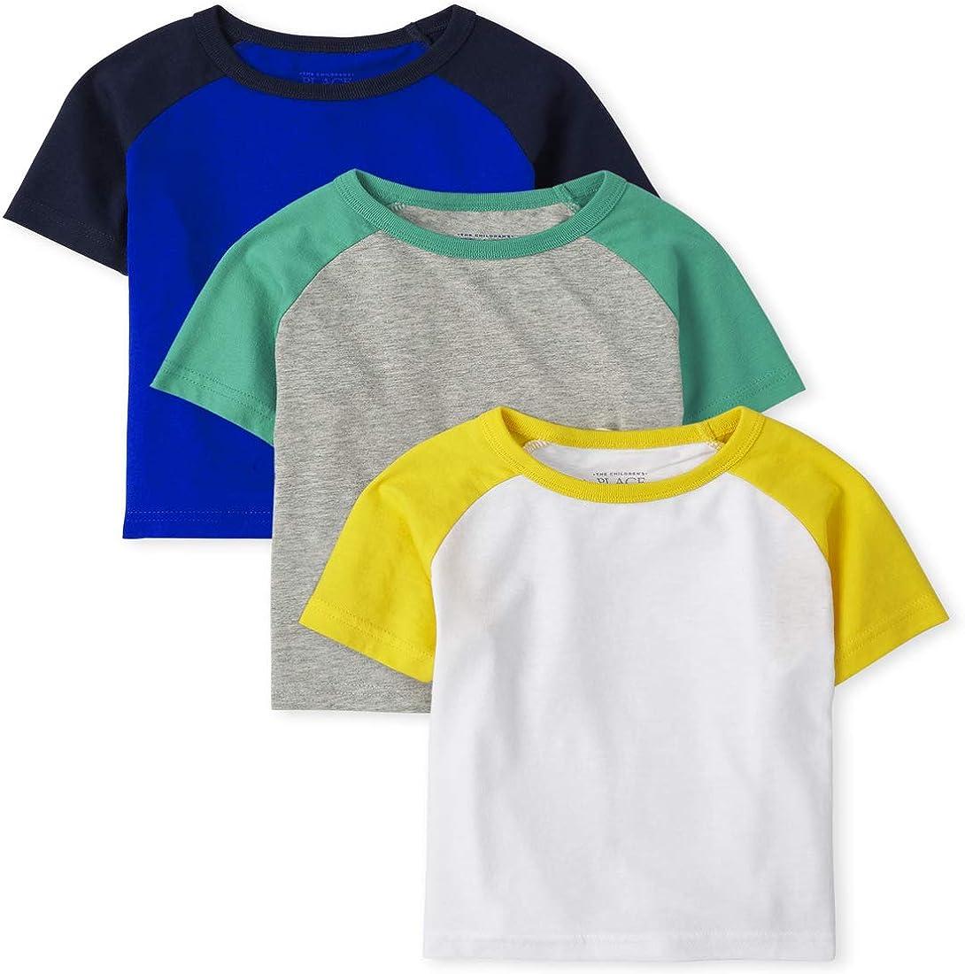 The Children's Place Baby Boys' Raglan Shirts, Pack of Three