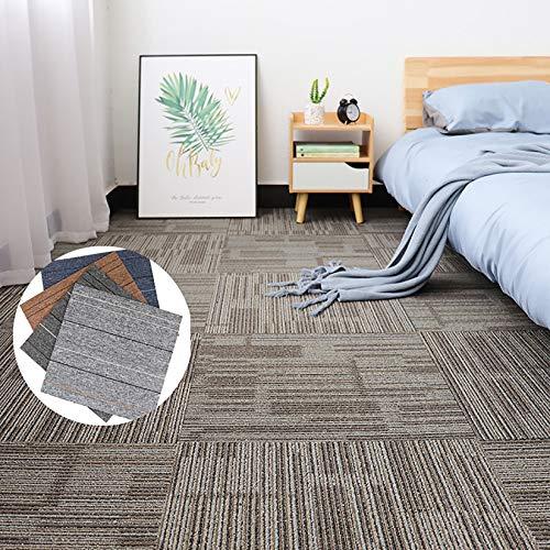 EVR Carpet Tile Losetas de Moqueta Acero de Moqueta 50 x 50 cm Baldosas Adhesivas para Alfombras Moqueta Hogar Oficina,01,6pcs
