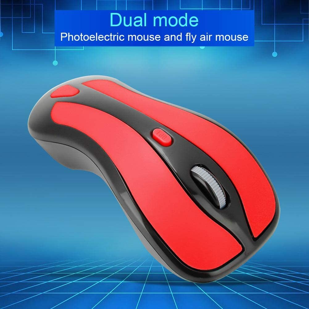 Blue+Black Yosooo Wireless Mouse 6D Gyroscope 2.4G TV Wireless Optical Fly Air Mouse USB Receiver for PC Smart TV Box