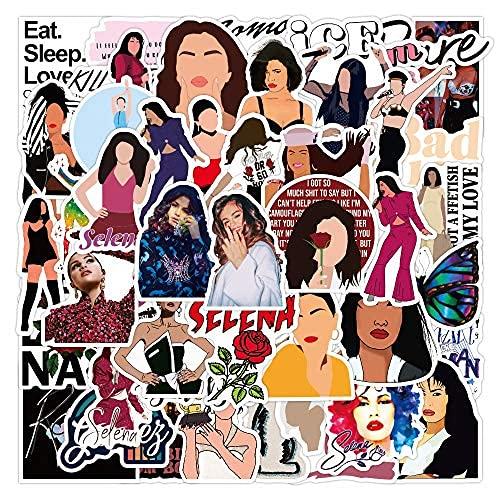 XXCKA 50 Pegatinas de Graffiti de la Cantante Selena Gomez, Pegatinas Impermeables para Equipaje, portátil, Scooter, Taza de Agua