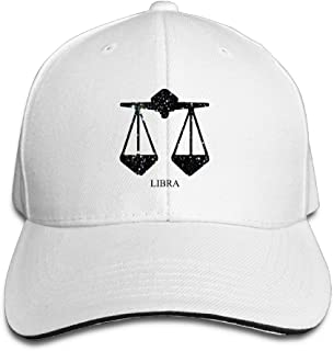 Unisex Zodiac Galaxy Scale Hip Hop Adjustable Trucker Hat Red