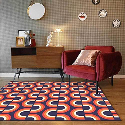 Alfombras Salon Grande Alfombra para Dormitorio Antideslizante Alfombra Grande Moda Simple geométrico...