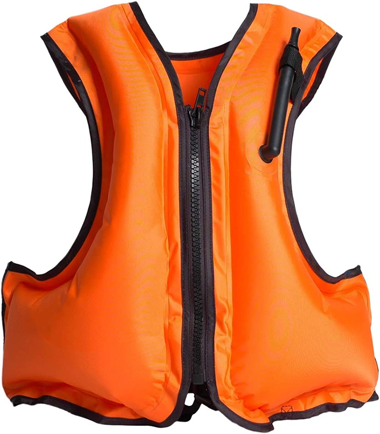 Life Jacket Adult Inflatable Swim Vest Life Jacket Snorkeling Floating Swimming Surfing Water Sports Life Saving Jacket,orange