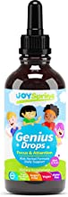 Best Natural Focus Supplement for Kids, Supports Healthy Brain Function to Improve Concentration & Attention for School, Great Tasting Liquid Calming Supplement, Made from 100% Organic Herbs