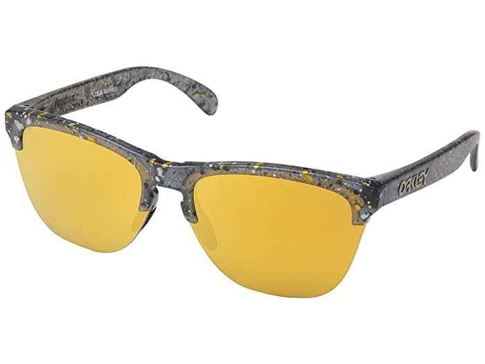 Oakley Frogskins Lite (Splatter Crystal Black) Sport Sunglasses