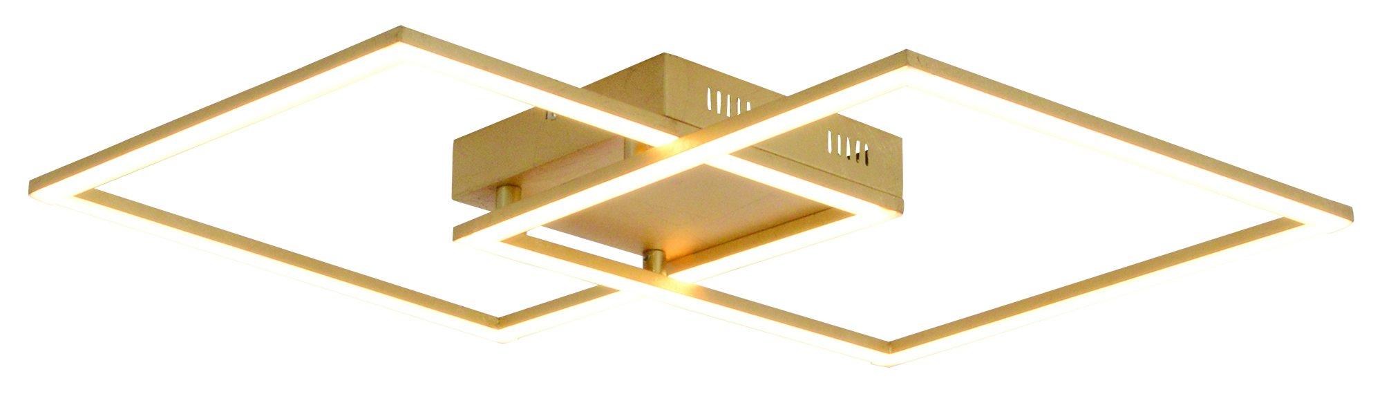 48W LED Plafonnier Moderne Simple Romantique Salon Salle /à Manger Chambre K9 Crystal Clair Plafonnier /Él/égant Miroir en Acier Inoxydable Lampe /Étude /Éclairage de Plafond L75cm*W58cm Lumi/ère Chaude