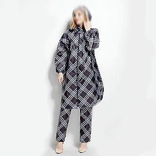 WZHZJ Adult Emergency Waterproof Hood Raincoat Poncho Women Fashion Bicycle Rain Coat Set with Pants Raincoat Woman