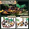 TOEY PLAY 3 in 1 Mini Animali Giocattolo con Dinosauri Giungla Fattoria per Bambini Plastica Figure Animali Set Giochi Educativi Regalo Bambino 3 4 5 Anni #1