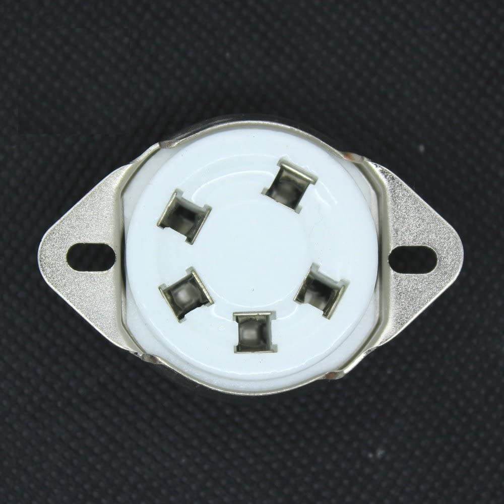 100PCS 5Pin Max 68% OFF Ceramic Tube Socket for 5-21 US Valve 807 Popular Base Style