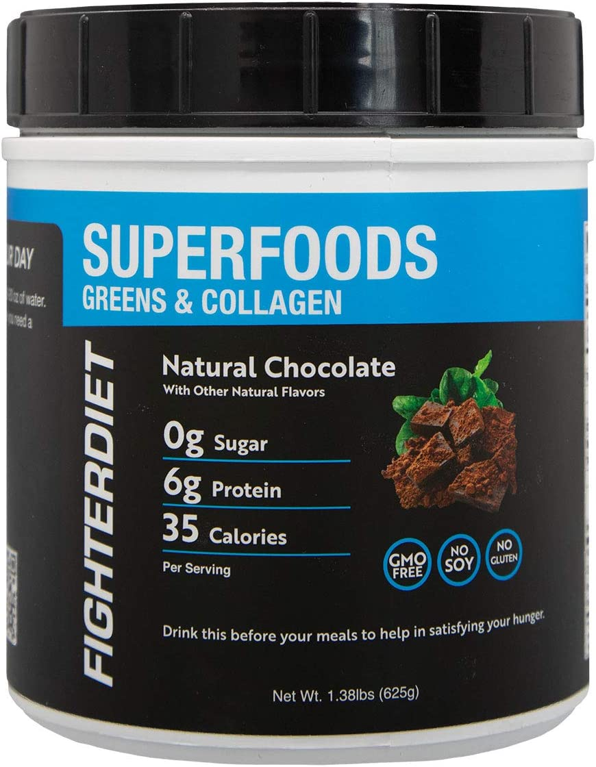 Fighterdiet Collagen Greens Superfood sold out - NEW before selling ☆ 625g