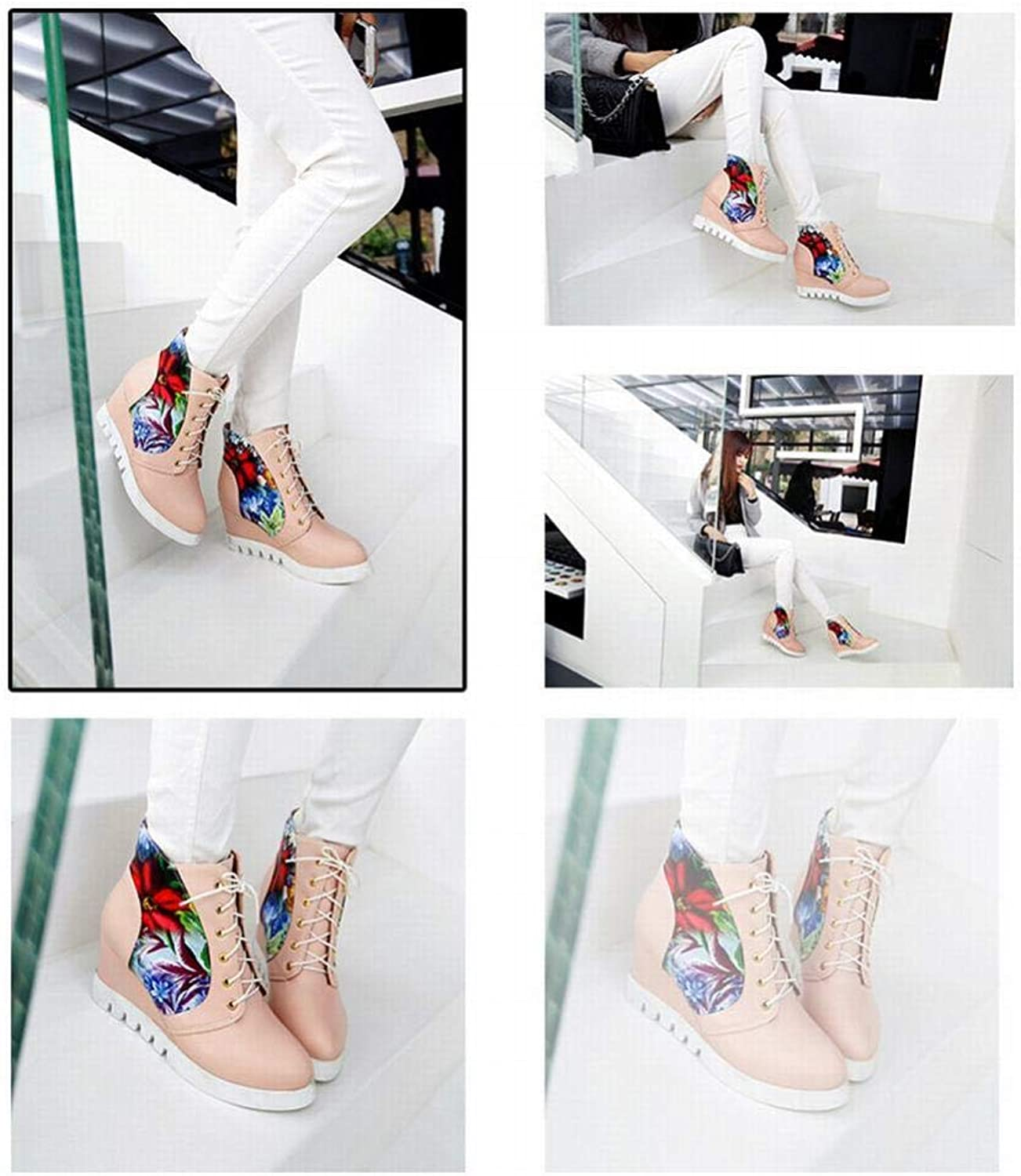 Women's shoes - Tie up Inside The High High shoes Casual Flat Boots Sweet Student shoes 35-43 Women's Boots