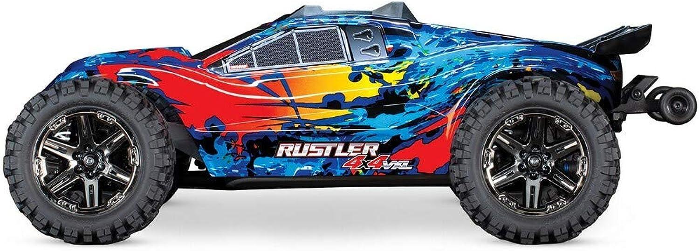 Traxxas 67076-4 Rustler 4x4 BRUSHLESS Stadium Truck VXL 2.4GHz Orange-Blau