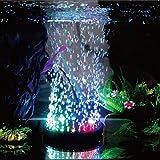 Yunt Lumière à Bulle d'Air LED Éclairage Étanche et Subemersible LED Lampe de Décoration pour Aquarium (A: diamètre: Environ 10.5cm, Puissance: 1W)