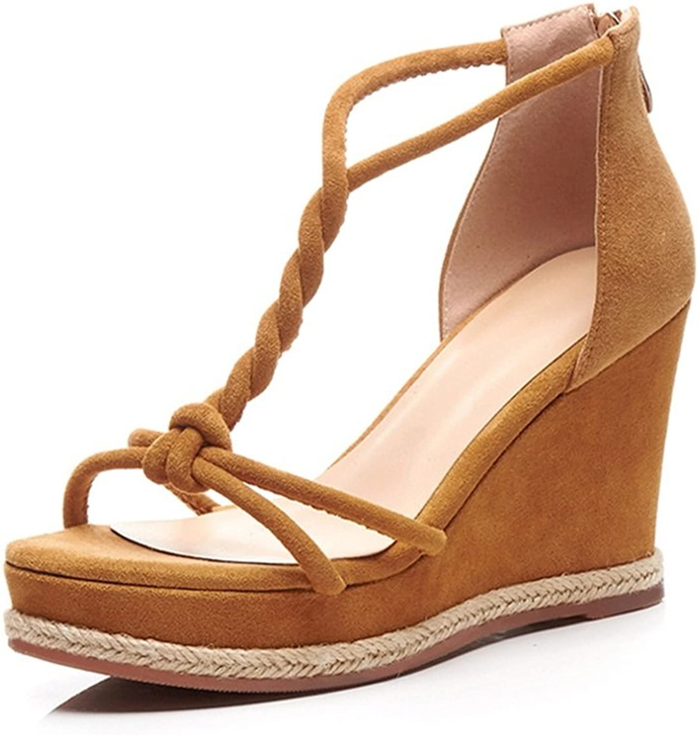Womens's shoes Leather Summer Fall New Sweet shoes Casual Wedge Heel Oxford Sandal for Casual Dress Party & Evening