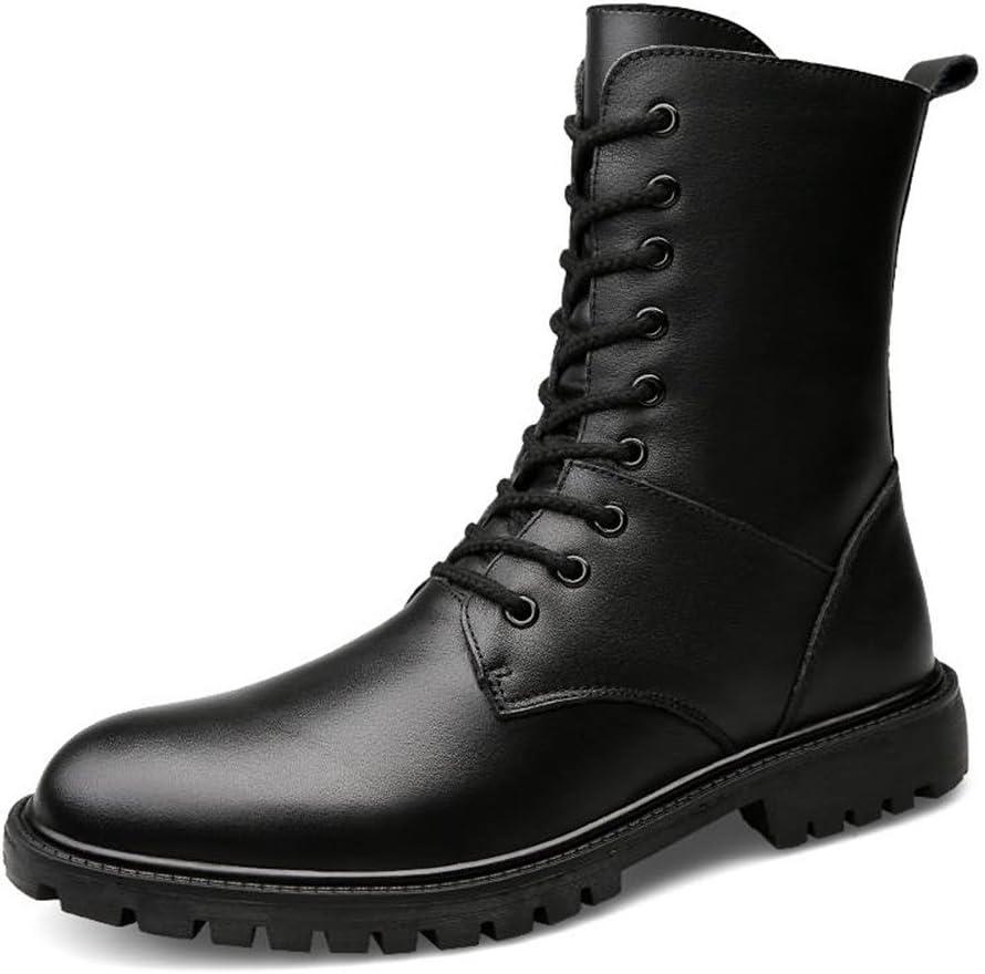 NiubiyaXuzi Men's Ankle Boots Block Finally resale start Heel up Peep Lace Toe Satisf Fashionable