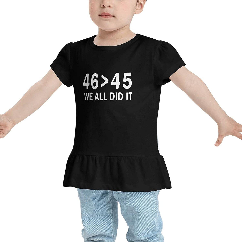 GZNPVL We Did It Biden Harris Baby's Girl Cotton T-Shirt Tees Dresses